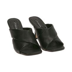 Mules nere, tacco 8 cm , Primadonna, 172791812EPNERO035, 002 preview