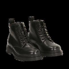 Amphibiens noirs en cuir, Primadonna, 167729410PENERO035, 002a