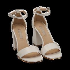 Sandali bianchi in tejus, Scarpe, 154821432EJBIAN039, 002 preview