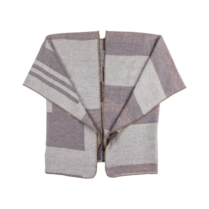 Poncho rosa effetto lamé, stampa a quadri multicolore, Abbigliamento, 12B409679TSROSA