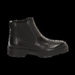 Chelsea boots neri in pelle, Primadonna, 167723704PENERO035, 001 preview