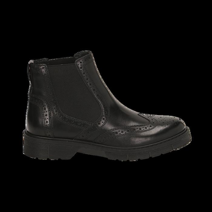 Chelsea boots neri in pelle, Primadonna, 167723704PENERO035