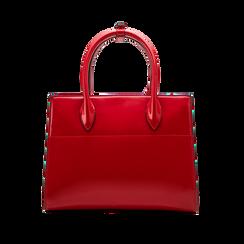 Borsa a mano rossa in ecopelle vernice, Saldi, 125786379VEROSSUNI, 002 preview