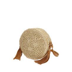 Bolso coñac pequeño de rafia, Primadonna, 175123102RFCOGNUNI, 002a