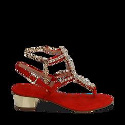 CALZATURA SANDALO MICROFIBRA CORA, Chaussures, 154927101MFCORA035, 001a