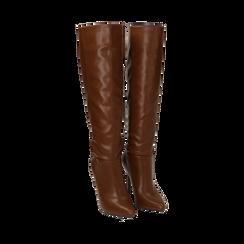Stivali cuoio, tacco 10,50 cm , Primadonna, 162146862EPCUOI035, 002a