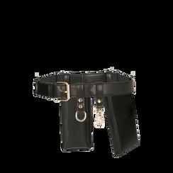 Cintura con mini-bags nera , Borse, 165123256EPNEROUNI, 002a