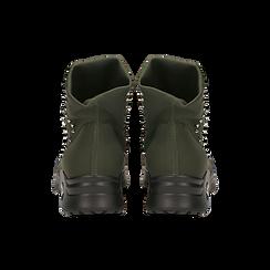 Sneakers verdi slip-on in lycra con cristalli, Scarpe, 122808611LYVERD, 003 preview