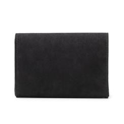 Clutch con cristalli nera in microfibra, Borse, 145122597MFNEROUNI, 003 preview
