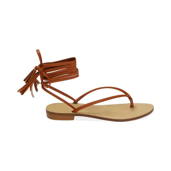 Sandales à lacets cognac, Primadonna, 174982380EPCOGN035