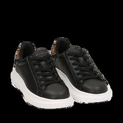 Sneakers nero/leopard , Primadonna, 162602011EPNELE035, 002a