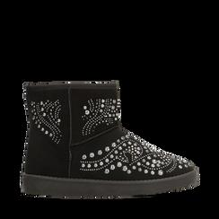 Scarponcini invernali neri con mini borchie, Primadonna, 12A880115MFNERO036, 001a