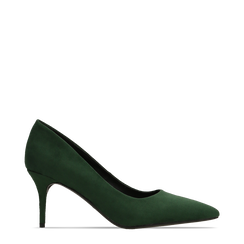 Décolleté scamosciate verdi con punta affusolata, tacco medio 7,5 cm, Scarpe, 122111552MFVERD036, 001a