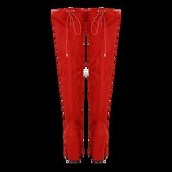 Stivali sopra il ginocchio rossi, tacco 10,5 cm, Scarpe, 122179696MFROSS, 003 preview