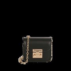 Mini bag nera , Borse, 165123212EPNEROUNI, 001a