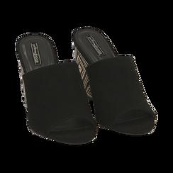 CALZATURA CIABATTE MICROFIBRA NERO, Zapatos, 154970855MFNERO035, 002 preview