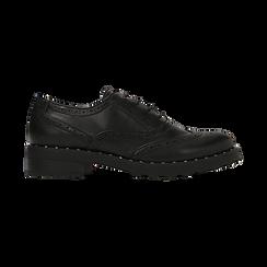 Francesine stringate nera con mini-borchie e lavorazione Duilio, Primadonna, 120682916EPNERO, 001 preview
