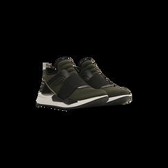 Sneakers verdi con tacco basso, Scarpe, 121617843LYVERD, 002 preview