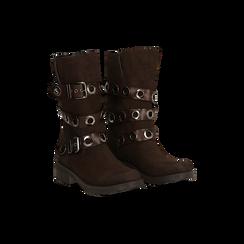 Stivaletti con Fibbie e Borchie - Biker Boots, Scarpe, 12A700272MNMARR, 006 preview