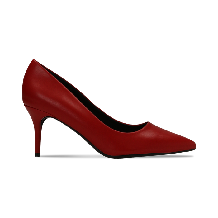 Décolleté rosse con punta affusolata, tacco medio 7,5 cm, Primadonna, 122111552EPROSS
