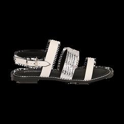 Sandali bianchi in eco-pelle, Saldi, 113006512EPBIAN036, 001 preview
