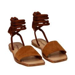 Sandales en daim cognac, Primadonna, 17A131486CMCOGN035, 002a
