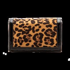 Pochette leopard in microfibra scamosciata con tracolla, Borse, 123308936MFLEOPUNI, 002 preview