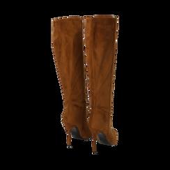 Stivali cuoio in microfibra, tacco 10,50 cm , Primadonna, 162146862MFCUOI035, 003 preview