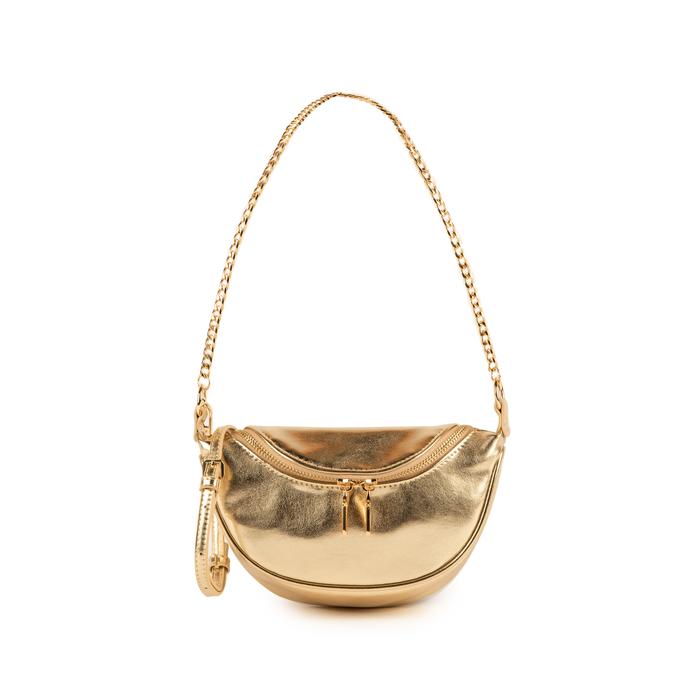 Petit sac doré en simili-cuir brillant, Sacs, 155122722LMOROGUNI