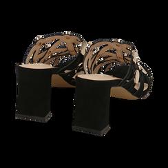 WOMEN SHOES SLIPPER MICROFIBER NERO, Zapatos, 154821212MFNERO036, 004 preview