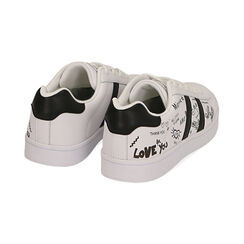 Sneakers bianche con scritte cartoon, Scarpe, 172621103EPBIAN035, 004 preview