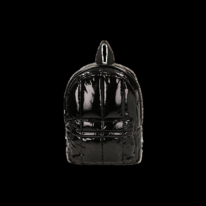 Sac à dos noir duvet en vernis, Primadonna, 165122936VENEROUNI