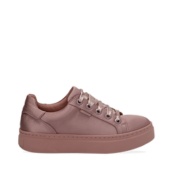 Sneakers nude in tessuto, suola 4 cm  , Scarpe, 142509512TSNUDE035, 001a