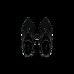 Tronchetti neri con mini-borchie e stringhe, tacco 9 cm, Primadonna, 120381111MFNERO, 004 preview