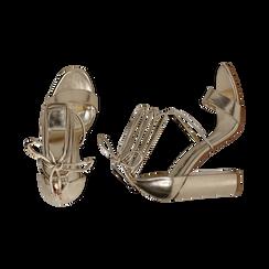 CALZATURA SANDALO LAMINATO OROG, Chaussures, 152760851LMOROG036, 003 preview