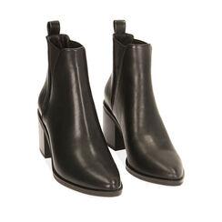 Ankle boots noirs, talon 7,5 cm , Primadonna, 180622612EPNERO035, 002a