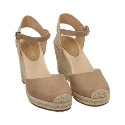 WOMEN SHOES ESPADRILLAS MICROFIBER BEIG, Chaussures, 154922102MFBEIG035, 002a