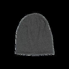 Cappello grigio in tessuto con cristalli, Abbigliamento, 14B406053TSGRIGUNI, 002 preview