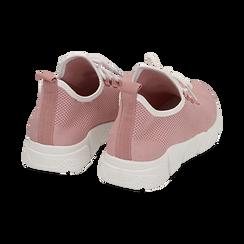 Sneakers nude in tessuto tecnico, Scarpe, 159715007TSNUDE036, 004 preview