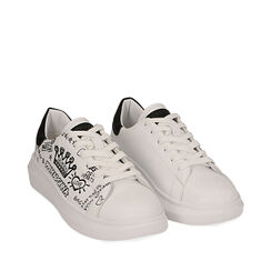 Sneakers blancas con estampado cartoon, Primadonna, 172621012EPBIAN035, 002a