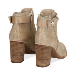 Ankle boots beige in vitello , Scarpe, 138900604VIBEIG036, 004 preview