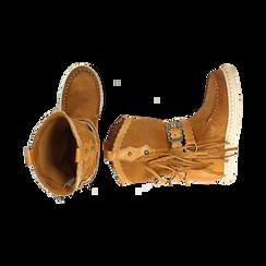 CALZATURA TRONCHETTI CAMOSCIO CUOI, Zapatos, 15A220102CMCUOI036, 003 preview
