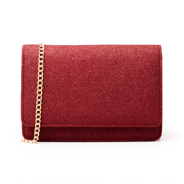 Borsa rossa glitter, Primadonna, 145122414GLROSSUNI