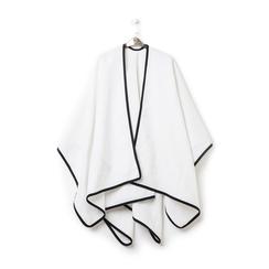 Poncho bianco in tessuto , Abbigliamento, 14B400006TSBIAN3XL, 003 preview