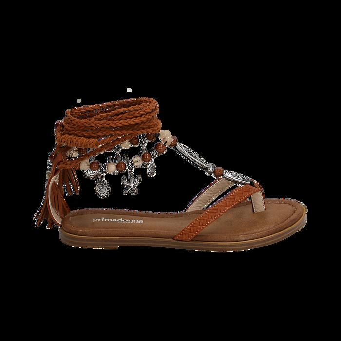 Sandali infradito lace-up cuoio , Scarpe, 153683578EPCUOI