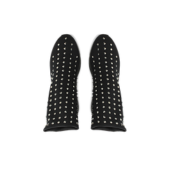 Sneakers nere slip-on in lycra con cristalli, Primadonna, 122808611LYNERO037, 004 preview