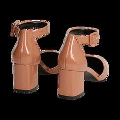 Décolleté nude in vernice con cinturino, tacco 6 cm , Scarpe, 144942232VENUDE037, 004 preview
