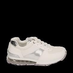 Sneakers en eco-piel color blanco, Zapatos, 157311101EPBIAN035, 001a