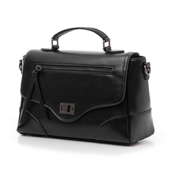 Borsa media nera in eco-pelle, Borse, 14D903145EPNEROUNI, 004 preview