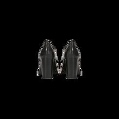 Francesine stringate nere in vera pelle, tacco alto, Primadonna, 128900021VINERO, 003 preview